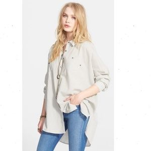 Free People Love Her Madly Button Tunic Top Shirt